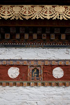 Intricate artwork on one of the 108 chorten. Dochu La, Bhutan. - Photo #23196