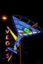Neon martini sign in Las Vegas. - Photo #19996