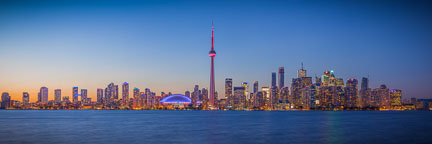 Panorama of Toronto skyline at night. - Photo #33096