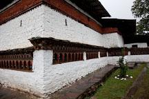 Prayer wheels line the walls of Kyichu Lhakhang. Paro, Bhutan. - Photo #23996