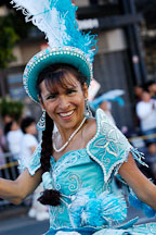 Woman in costume. Carnaval's grand parade. San Francisco, California, USA. - Photo #6196