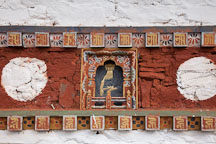 Detailed artwork on the chortens at Dochu La, Bhutan. - Photo #23197