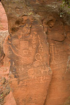 Several geometric and anthropomorphic figures. V-Bar-V Ranch, Arizona, USA. - Photo #17797