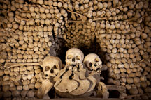 Mound of bones. Sedlec Ossuary, Czech Republic. - Photo #29797