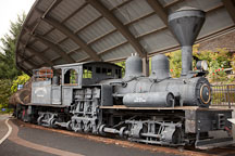 Peggy, an old-style Lima shay-geared locomotive. Portland, Oregon. - Photo #28197