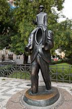Franz Kafka monument in Dusni Street. Prague, Czech Republic. - Photo #29598
