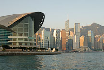 Hong Kong Convention Center and Hong Kong island skyline. Hong Kong, China. - Photo #14698