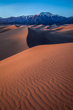 Ripples in the sand.  Great Sand Dunes NP. Colorado. - Photo #33198