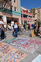 Sidewalk paintings. Venice, California, USA. - Photo #7398