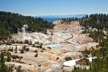 View descending into the Bumpass Hell basin. Lassen NP, California. - Photo #27098