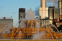 Buckingham Fountain was designed by Edward H. Bennett. Chicago, Illinois, USA. - Photo #10499