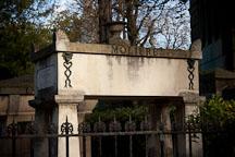 Moliere's grave in Pere Lachaise cemetery. Paris, France. - Photo #31399