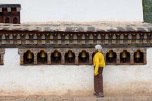 Prayer wheels at Chimi Lhakhang. Lobesa valley, Bhutan. - Photo #23599