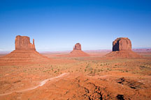 The Mittens and Merrick Butte. Monument Valley, Arizona. - Photo #18899