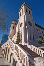 St. Mary's Basilica and stairs. Phoenix, Arizona, USA. - Photo #5499