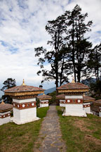 Stone path and the 108 Chorten. Dochu La, Bhutan. - Photo #23199