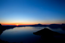 Sunrise at Crater Lake. Oregon. - Photo #27399