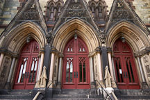 Three doors of the United Methodist Church. Mount Vernon Place, Baltimore, Maryland, USA. - Photo #3899