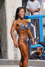 Asian female bodybuilder. Muscle beach, Venice, California, USA. - Photo #8662