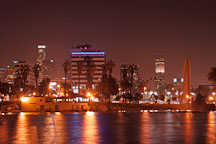 MacArthur Park at night. Los Angeles, California, USA. - Photo #8065