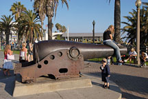 Cannon. Palisades Park, Santa Monica, California, USA. - Photo #8227