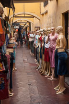 Mannequins lining the entrance of a clothing store. Lima centro, Peru. - Photo #8811